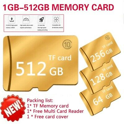 1~512GB Card CLASS 10 TF SDHC Flash Memory For PC Laptop Phone Camera