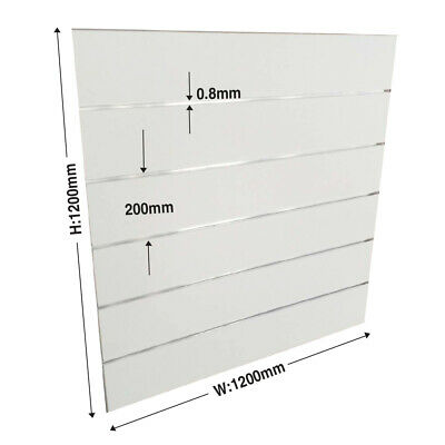 2 PACK of 1200x1200x18mm Inc Spaced Groove & Aluminium Slats E1 Garage Slatwall