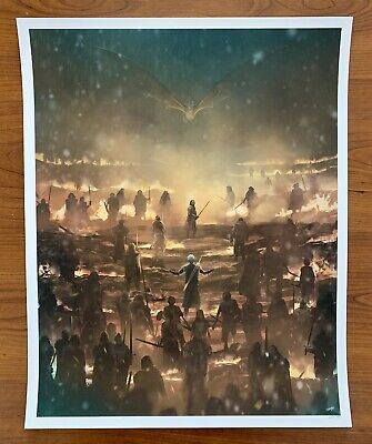 *Game of Thrones* The Long Night 16 x 20 Print by Andy Fairhurst*