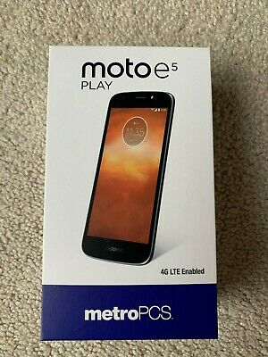 MOTOROLA MOTO E5 Plus Metro Pcs Brand New Sealed In The Box