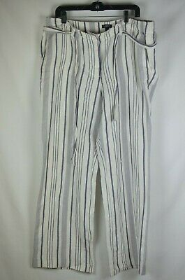 Clothing, Shoes & Accessories Ann Taylor Tab Front White Cotton Cropped Capri Pants Sz 2