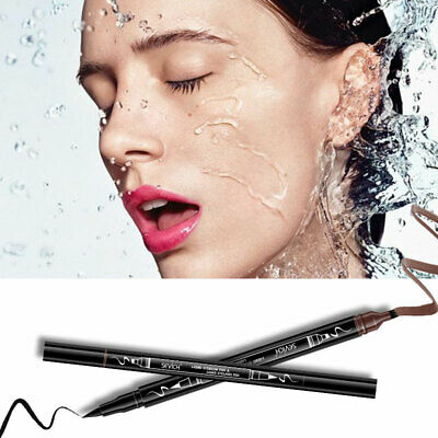 1PC 2in1 Double-end Pencil Liquid Eye Liner With Eyebrow Waterproof Long-lasting