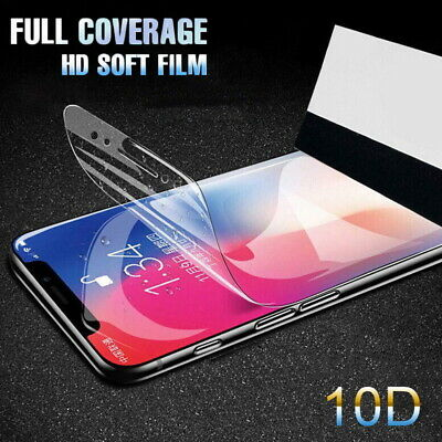 For iPhone Xs Max XR 7 8 Plus 6s Full Screen Protector Soft Clear Hydrogel Film