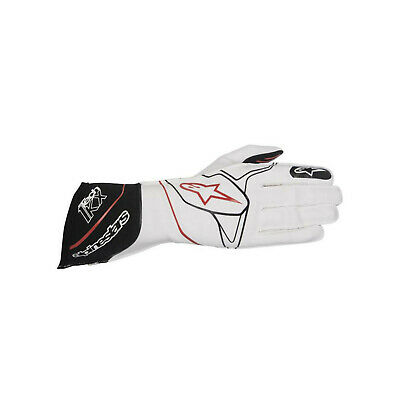 Alpinestars TECH 1-KX MY17 Karting Gloves White/Black - Genuine - M