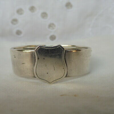 Antique Early George V Hallmarked Sterling Silver Napkin Ring : Chester 1911