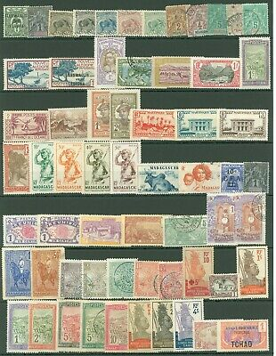 Colonies A13 French Madagascar Gabon Chad Selection mint/used