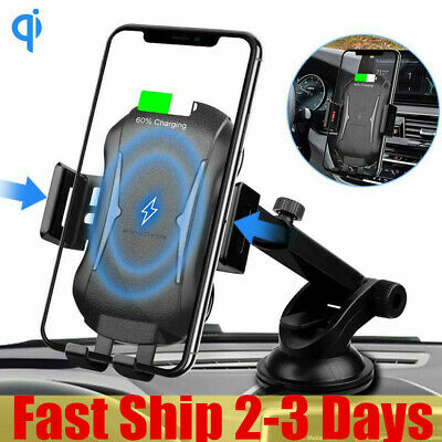 Automatic Clamping Qi Wireless Car Charging Charger Mount Air Vent Phone Holder