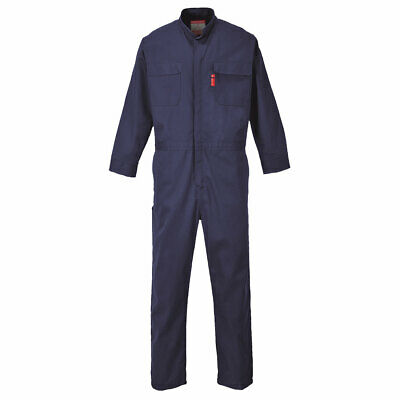 Portwest UFR88 Bizflame 88/12 FR Safety Work Navy Zip Front Coverall ASTM NFPA
