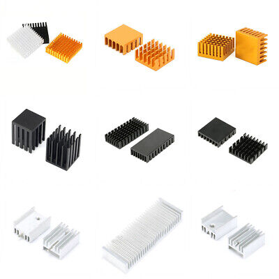 Black/Silver/Gold Aluminum Heat Sinks Cooling Heatsink For CPU/Transistor/Audio