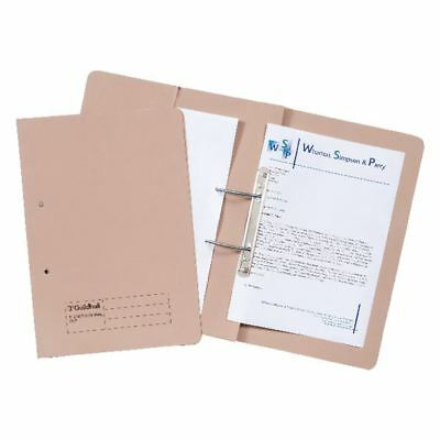 Guildhall Buff Foolscap Heavyweight Pocket Spiral File (Pack of 25) [GH23034]