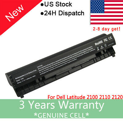 6 Cell Battery for Dell Latitude 2100 2110 2120 312-0229 4H636 00R271 451-11039