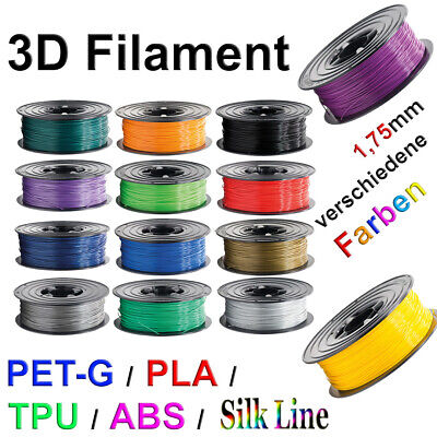 3D Drucker Filament 1kg Rolle PLA TPU ABS PETG MFLEX 1,75mm Printer Spule Sample