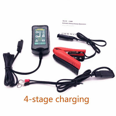 1PCS CHARGEUR DE BATTERIE VOITURE AUTO/MOTO 6 et 12 VOLTS MAINTIEN CHARGE