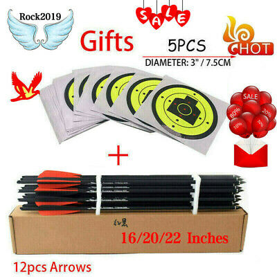 Hunting 12x Crossbow Carbon Arrow 16/20 Inches Spine 400 for Crossbow Shooting