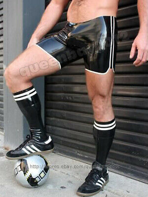 New 100% latex Rubber 0.45mm Football Shorts and Socks Sport Set Black
