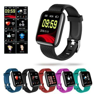 Smart Sport Waterproof Watch Heart Rate Monitor Blood Pressure Fitness Tracker