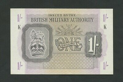 BRITISH MILITARY AUTHORITY  1s  WWII  Krause M2  About Uncirculated  Banknotes