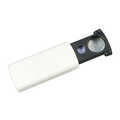 Mini Foldable 20X 45X Magnifying Glass LED Lighted Pocket Loupe Magnifier