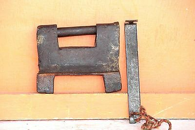 Strip System Pad Lock Vintage Indian Antique Iron Hand forged Collectible  L-74