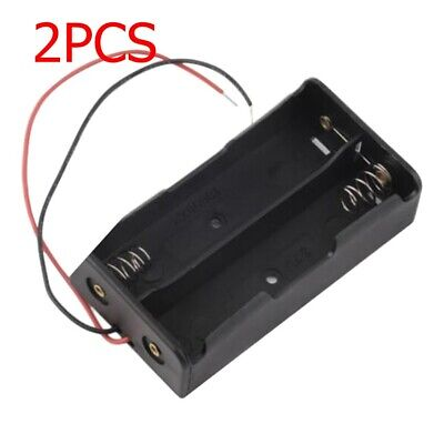 1/2pcs Rechargeable Battery Holder Storage Case box For 18650 w/ Wire Lead