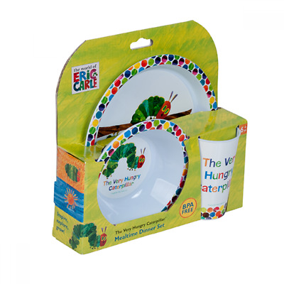 Very Hungry Caterpillar 3pc Dinner Set Eric Carle Kids Meal