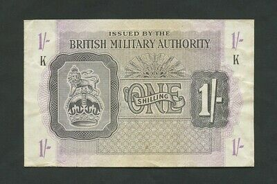 BRITISH MILITARY AUTHORITY  1s  WWII  Krause M2  About VF  Banknotes