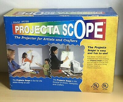 APCO Projecta Scope Projector Enlarges Images & 3D Object For Artists Crafters