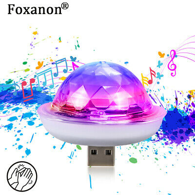 Mini LED RGB USB Disco Stage Light Party Club DJ KTV Xmas Magic Phone Ball Lamp