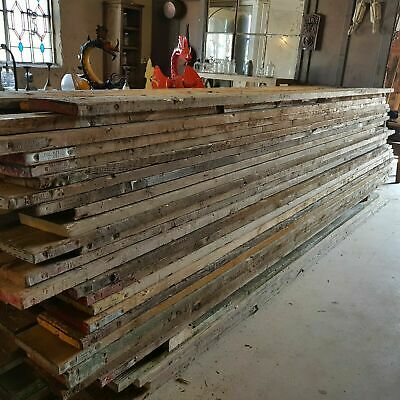 Old Vintage Untreated Pine Scaffold Boards 1ft to 13ft lengths timber