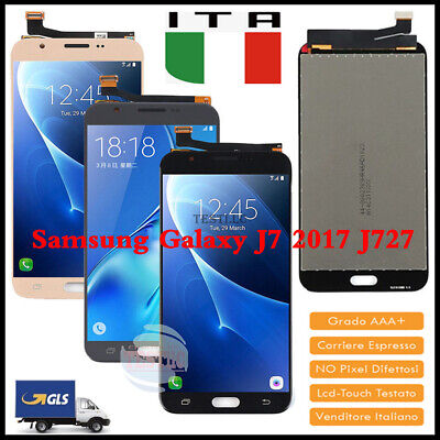 LCD Display Touch Screen Per Samsung Galaxy J7 2017 J727 J727P/V Vetro Schermo