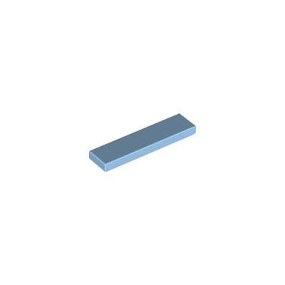 Lego 4x Tile plaque lisse 1x4 with Groove bleu//blue 2431 NEUF