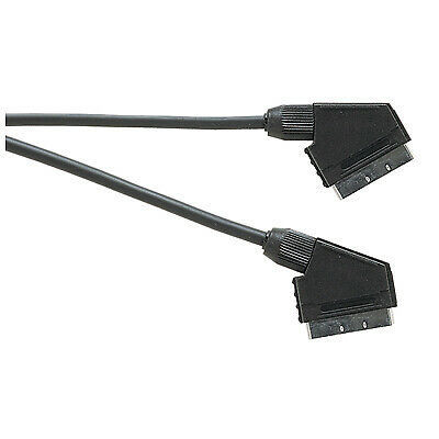 25 x Standard Scart Plug to Scart Plug TV Video Lead All Pins Connected - 1.5m