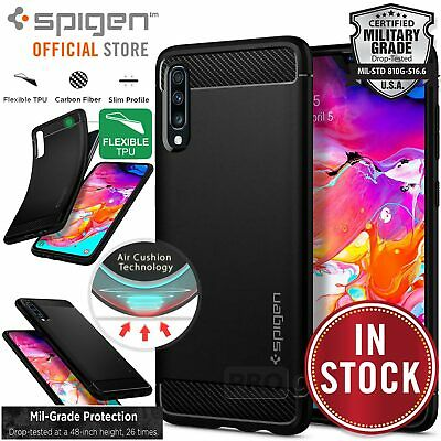 Samsung Galaxy A70 A50 A30 A20 Case, Genuine SPIGEN Rugged Armor Slim Soft Cover