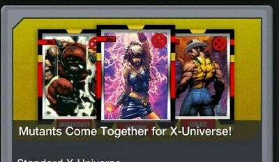 Topps Marvel Collect Card Trader Marvel X-Universe Complete Set Of 9 + Award