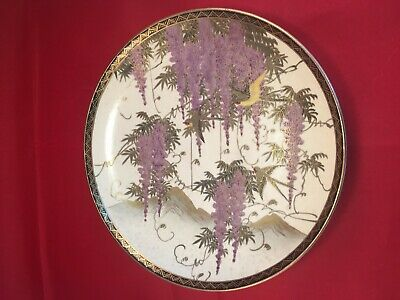 Original Handpainted Chinese Satsuma meiji period Side plate signed c 1920s