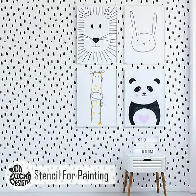 SEED STENCIL - Nursery Kids Room Furniture Wall Stencil for Painting