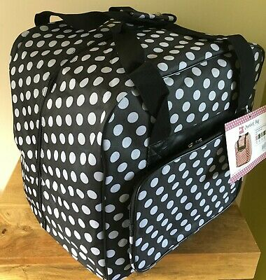 OVERLOCKER CARRY BAG XL Spotty Design in Black or Grey