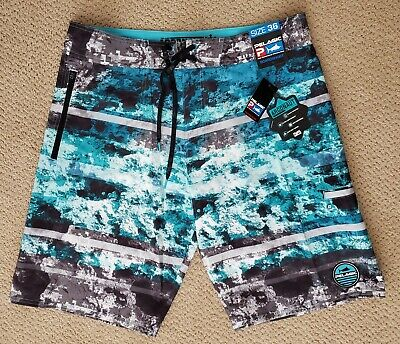 e9e905369d New Pelagic Argonaut Board Shorts/Swim Trunks Coral Camo Blue Size: 36