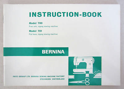 New Old Stock ORIGINAL Bernina 700  701 711 Sewing Machine Owners Manual UNUSED
