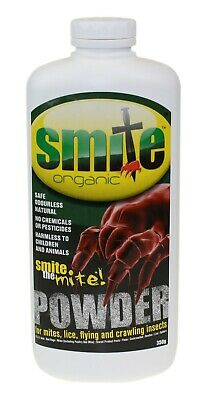 Smite Red Mite, Lice & Insect Parasite Powder Organic Safe Natural Hen Bird 350g