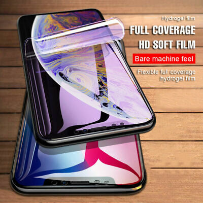 Soft Hydrogel Film Screen Protector Front Back Cover For iPhone 11 Pro Max XR XS