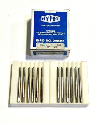 12 Pcs Standard Tool 10-32 GH4 Met-Flo HSS Thread//Roll-Form Bottoming Taps