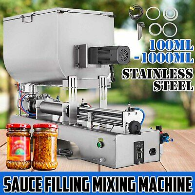 100-1000ml Liquid Paste Filling Mixing Machine  Adjustable Filling Machine 304T