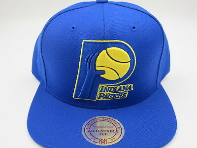 huge selection of 48fbb b6cc2 Indiana Pacers Blue Mitchell   Ness NBA Retro Vintage Snapback Hat Cap
