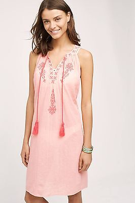 ab53d0301931f New Anthropologie DESERT ROSE BEACH DRESS BY SWIM Size Petite XS Color Coral