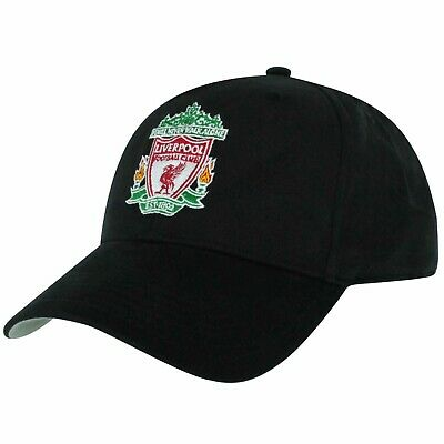 Official Liverpool FC (Premier League) Baseball Cap (100% Cotton) Black