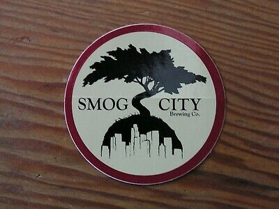 Smog City Brewing Co. Sticker ~NEW! Craft Beer Brew Logo Brewery Decal~