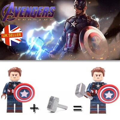 Captain America Mini Figure NEW UK Seller Fits Lego
