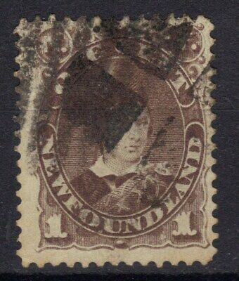 STAMPS CANADA NEWFOUNDLAND  CAT. $10.00  1c GRAY BROWN USED 1880-96 REF 620  530