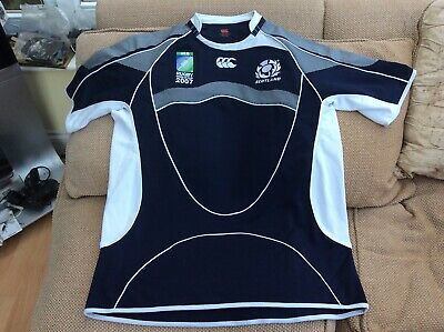 70fefe842e8 Canterbury Scotland Rugby Union World Cup 2007 Home Test Fit Shirt Size 2XL